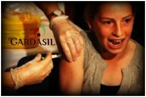 young girl getting gardasil vaccine